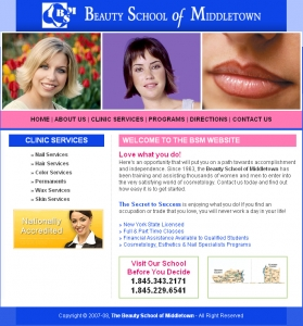 The Beauty School of Middletown,Cheap Website Design, Website Designing, Designers, 5 Page Website, HTML Website, Website Template, Template Designing, One End Solution, Logo Design
