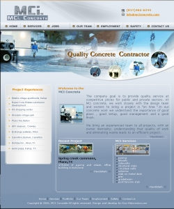 MCI Concrete,Cheap Website Design, Website Designing, Designers, 5 Page Website, HTML Website, Website Template, Template Designing, One End Solution, Logo Design