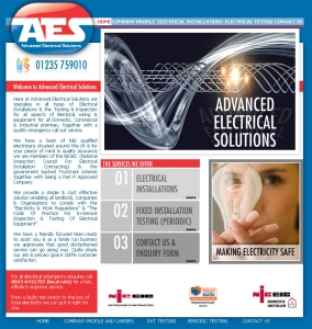 Advanced Electrical Solutions,CMS Website, Database Website, Admin Driven Website, News System