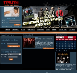 1Truth Christian Radio & More!,Cheap Website Design, Website Designing, Designers, 5 Page Website, HTML Website, Website Template, Template Designing, One End Solution, Logo Design