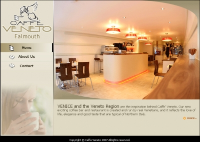 Caffe Veneto Falmouth,CMS Website, Database Website, Product Catalogue, Admin Driven Website, News System, Customize System, Open Source, Joomla, Word Press, Nuke Content Management System, News Management System, Products Management System, Categories Management System, Photo