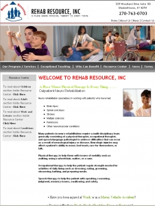 Rehab Resource Inc,CMS Website, Database Website, Admin Driven Website, News System