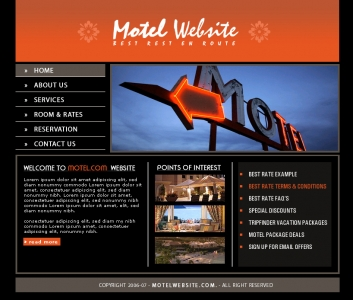 Motel Website,Cheap Website Design, Website Designing, Designers, 5 Page Website, HTML Website, Website Template, Template Designing, One End Solution, Logo Design
